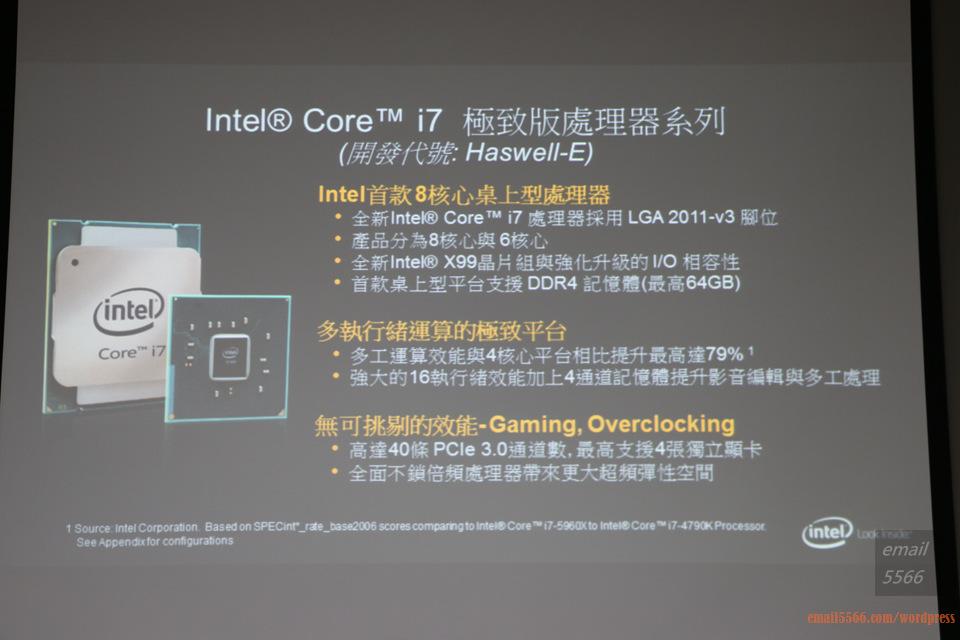 IMG_1801  Intel X99平台效能大解密 & 4K影音應用新世代 IMG 1801