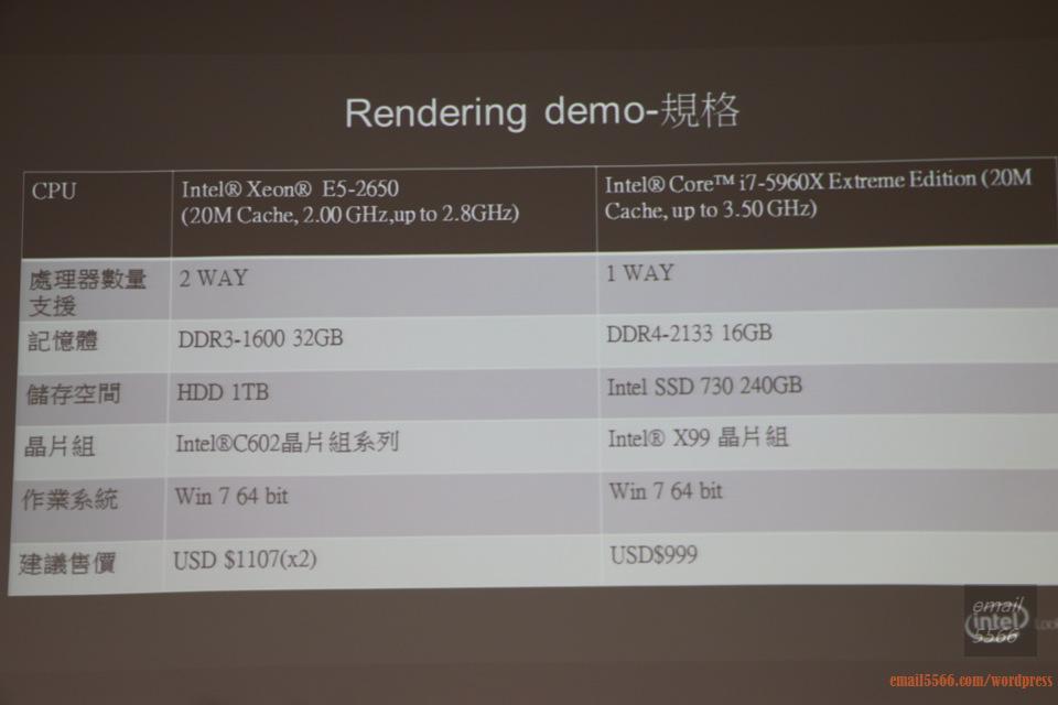 IMG_1814  Intel X99平台效能大解密 & 4K影音應用新世代 IMG 1814