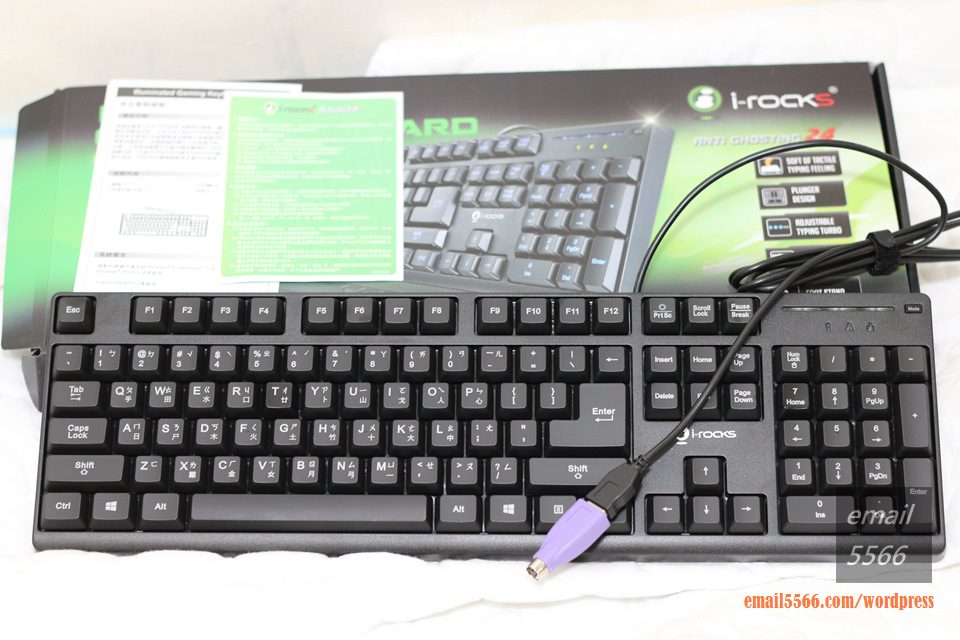 IMG_3620   i-Rocks KR6260E 背光遊戲鍵盤 開箱 IMG 3620