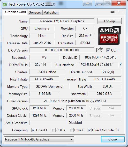 amd-480-1 [開箱] 微星MSI Radeon RX 480 ARMOR 8G OC 鎧甲貓 顯示卡 [開箱] 微星MSI Radeon RX 480 ARMOR 8G OC 鎧甲貓 顯示卡 AMD 480 1