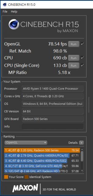 [開箱] 窮人四核八線程 AMD Ryzen 5 1400+ASUS PRIME A320M-K+ASUS RADEON RX550 [開箱] 窮人四核八線程 AMD Ryzen 5 1400+ASUS PRIME A320M-K+ASUS RADEON RX550 CINEBENCH R15 304x640