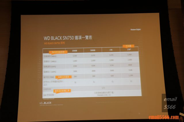 WD Black SN750 NVMe SSD 容量