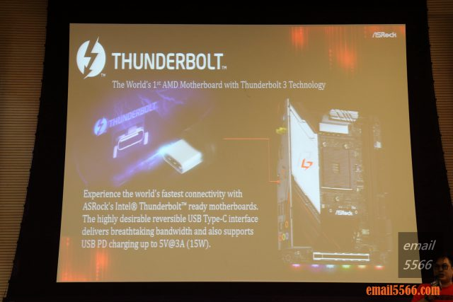 ASRock X570 Thunderbolt 3 x570主機板 2019 XF 台中網聚-電腦夏日祭 IMG 0798 640x427