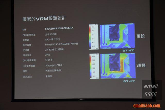 ROG Crosshair VIII VRM散熱設計
