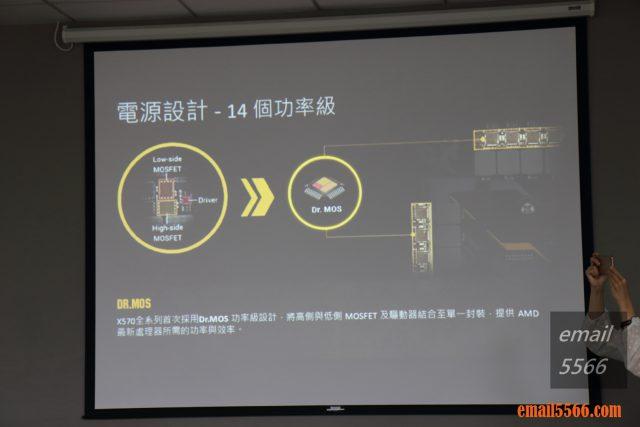 TUF Gaming X570和PRIME X570 採用14相 Dr.Mos