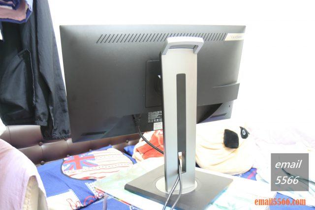 ViewSonic VG2455顯示器-纜線管理孔 viewsonic vg2455 ViewSonic VG2455 人體工學設計多角度旋轉顯示器 IMG 1708 640x427