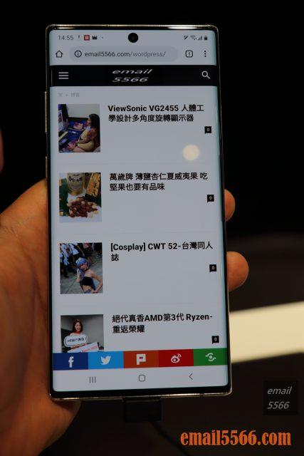 Galaxy Noet 10+ 螢幕