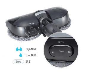 LG CordZero™ A9+濕拖無線吸塵器-智慧雙旋濕拖吸頭3 段式 供水調節系統