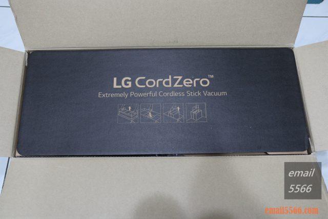 LG CordZero™ A9+濕拖無線吸塵器-上方紙蓋