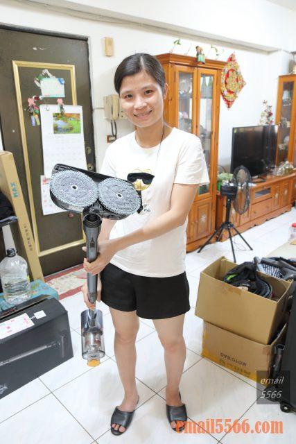 LG CordZero™ A9+濕拖無線吸塵器-智慧雙旋濕拖吸頭 一次完成吸+拖2種工作,不需要跪在地上撿頭髮
