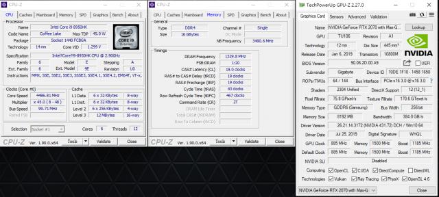 GIGABYTE AERO 15 X9 AI智慧筆電-CPU GPU