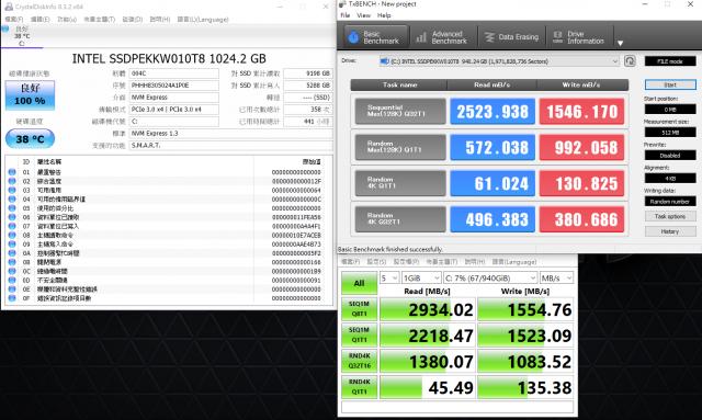 GIGABYTE AERO 15 X9 AI智慧筆電-硬碟讀寫效能測試