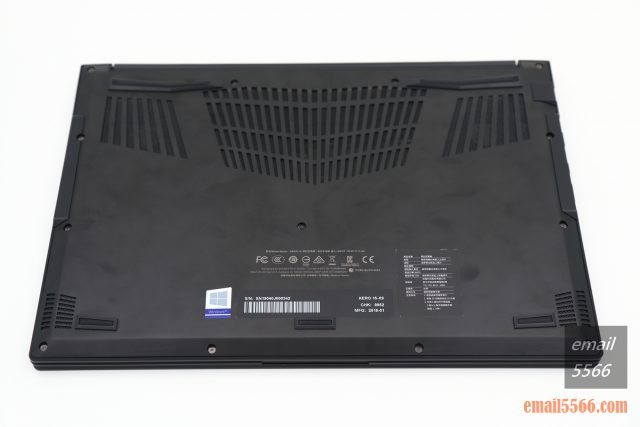 GIGABYTE AERO 15 X9 AI智慧筆電-筆電底蓋
