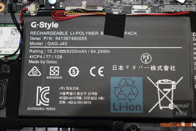 GIGABYTE AERO 15 X9 AI智慧筆電-充電式鋰電池 15.2V, 6200mAh / 94.24Wh