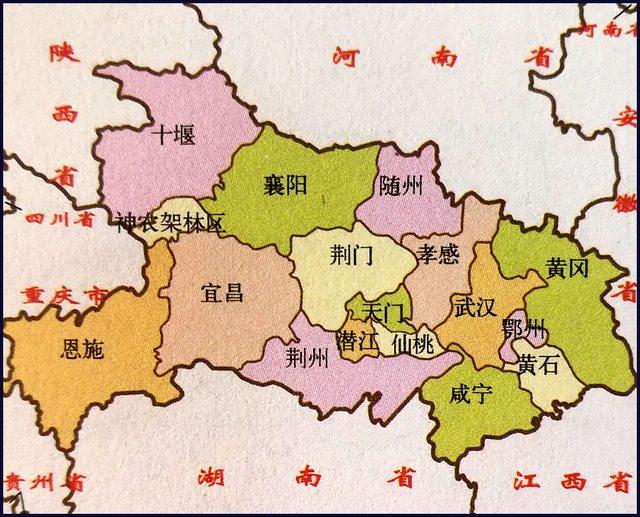 武漢肺炎封城-湖北省地圖 武漢肺炎 武漢肺炎守不住-武漢2020年01月23號10點 封城 Hubei Province Map