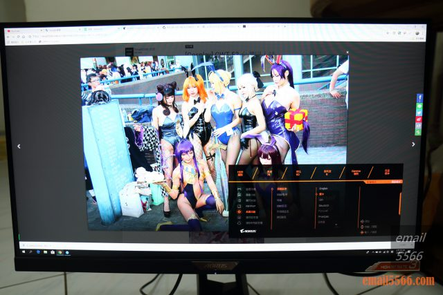 AORUS FI27Q-P 電競螢幕-5向OSD 旋鈕控制器