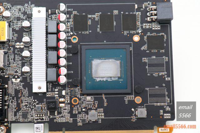 Zotac GTX 1650 Super 開箱-4GB GDDR6顯示記憶體顆粒