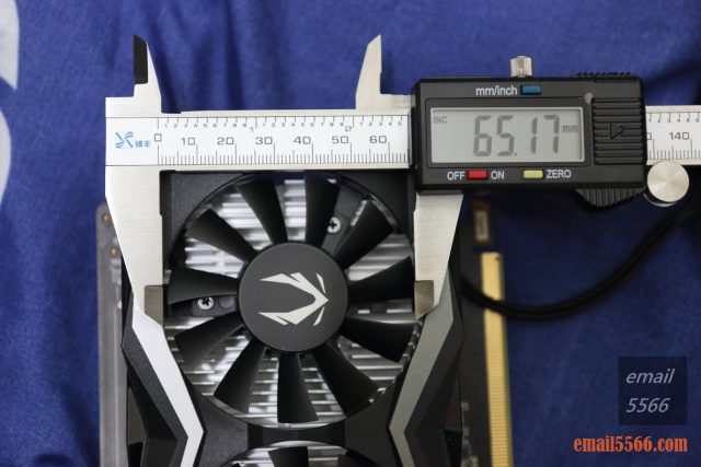 Zotac GTX 1650 Super 開箱-單顆風扇直徑65mm zotac gtx 1650 super ZOTAC 1650S 開箱-平民入門卡 IMG 4206 640x427