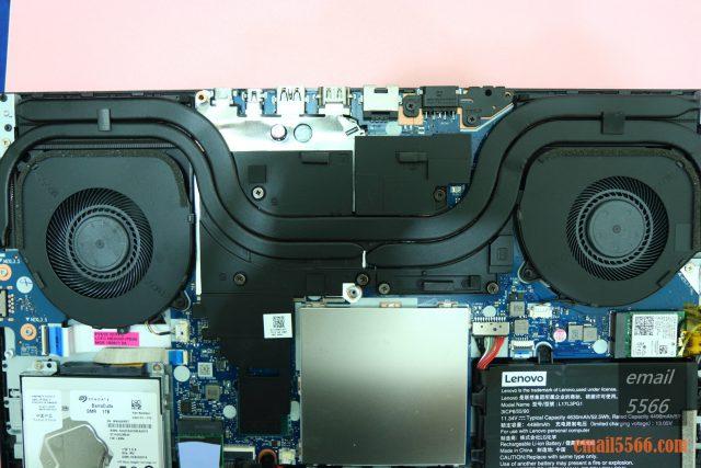 聯想 Legion Y540 電競筆電-GTX 1650+I5H+144Hz 窮人專用機 26888-GPU 散熱區、CPU 散熱區。兩根熱導管引導廢熱至散熱鰭片,並替記憶體與供電模組散熱。 legion y540 聯想 Legion Y540 電競筆電-GTX 1650+I5H+144Hz 窮人專用機 26888 IMG 4299 640x427