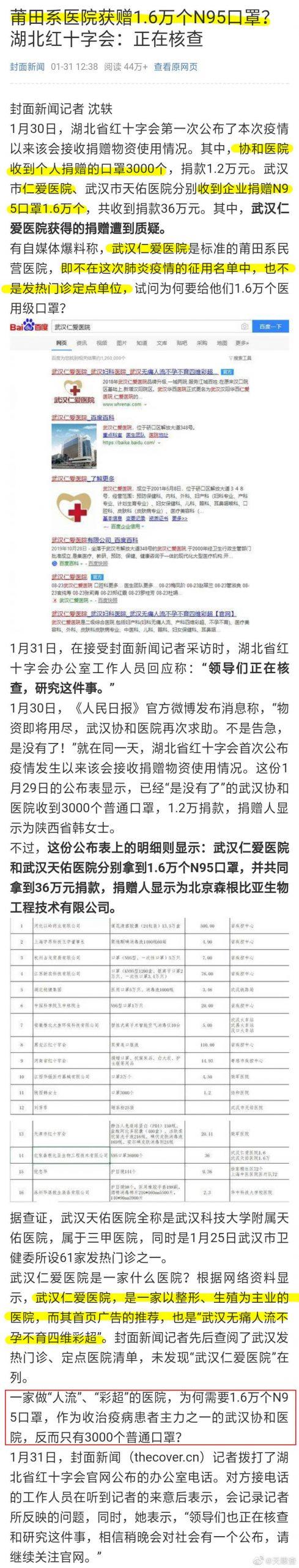 武漢肺炎封城-口罩分配不均 人工流產的醫院分配到1.6萬個 協和醫院只有3千個 武漢肺炎 武漢肺炎守不住-武漢2020年01月23號10點 封城 s8tKAtm scaled