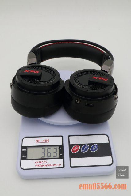 XPG PRECOG 預知者 電競耳機本體重量 363公克 xpg precog XPG PRECOG 預知者 電競耳機 開箱-FPS、虛擬7.1、多種連接埠、Hi-Res Audio IMG 4883 427x640
