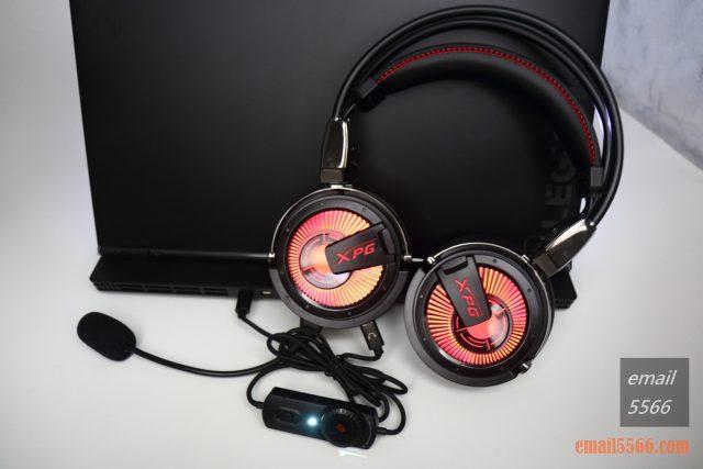 XPG PRECOG 預知者 電競耳機-LED紅光燈效 xpg precog XPG PRECOG 預知者 電競耳機 開箱-FPS、虛擬7.1、多種連接埠、Hi-Res Audio IMG 4926 640x427
