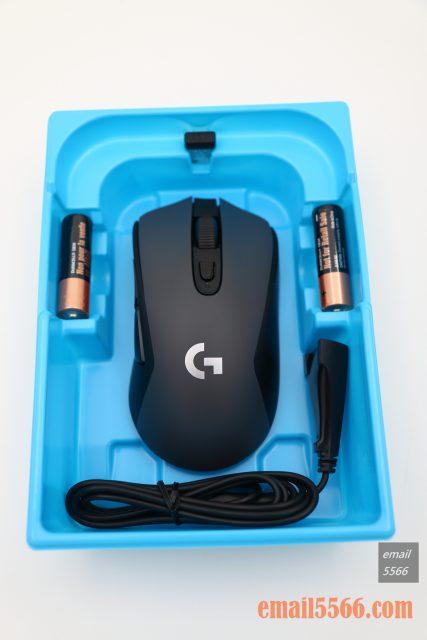 羅技 Logitech G603-包裝盒配件 logitech g603 羅技 Logitech G603 無線遊戲滑鼠 開箱-1490、CP高、1000 Hz、2.4G/藍芽 IMG 5097 427x640