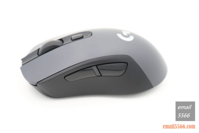 羅技 Logitech G603-左側有兩顆巨大的側鍵 logitech g603 羅技 Logitech G603 無線遊戲滑鼠 開箱-1490、CP高、1000 Hz、2.4G/藍芽 IMG 5102 640x427