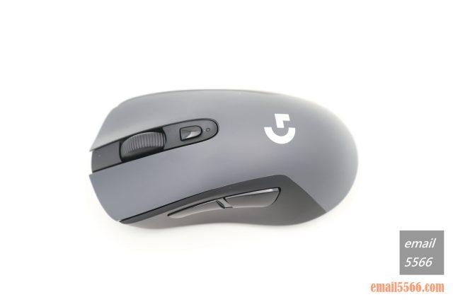 羅技 Logitech G603-表面採用霧面磨砂的材質 logitech g603 羅技 Logitech G603 無線遊戲滑鼠 開箱-1490、CP高、1000 Hz、2.4G/藍芽 IMG 5103 640x427