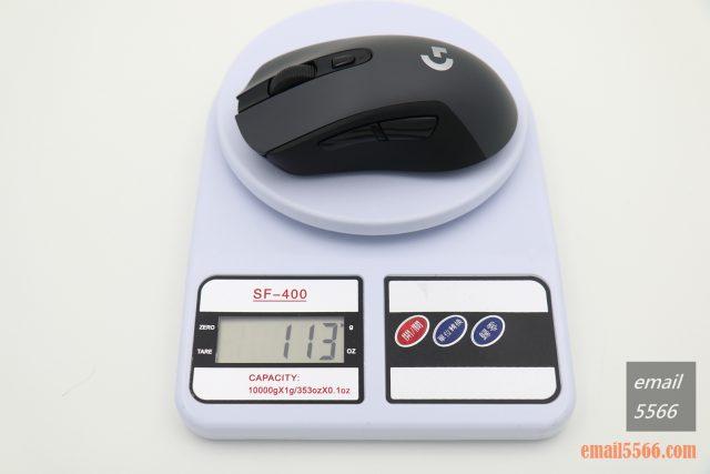 羅技 Logitech G603-使用1顆 3 號 AA 電池 113克重 logitech g603 羅技 Logitech G603 無線遊戲滑鼠 開箱-1490、CP高、1000 Hz、2.4G/藍芽 IMG 5113 640x427