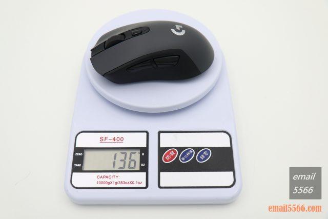 羅技 Logitech G603-使用2顆 3 號 AA 電池 136克重 logitech g603 羅技 Logitech G603 無線遊戲滑鼠 開箱-1490、CP高、1000 Hz、2.4G/藍芽 IMG 5114 640x427