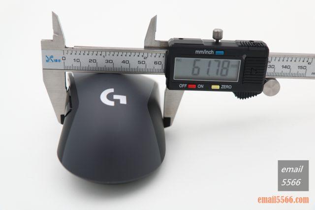 羅技 Logitech G603-滑鼠寬度 logitech g603 羅技 Logitech G603 無線遊戲滑鼠 開箱-1490、CP高、1000 Hz、2.4G/藍芽 IMG 5127 640x427