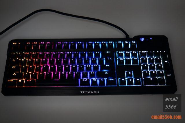 TESORO 鐵修羅 杜蘭朵劍 幻彩版 機械鍵盤-鍵帽的透光效果清晰