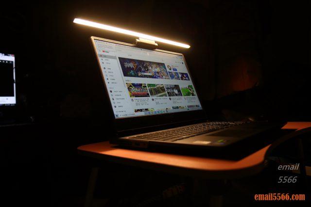 護眼掛燈-Baseus 倍思 i-沃可掛燈-掛燈應用在筆電上
