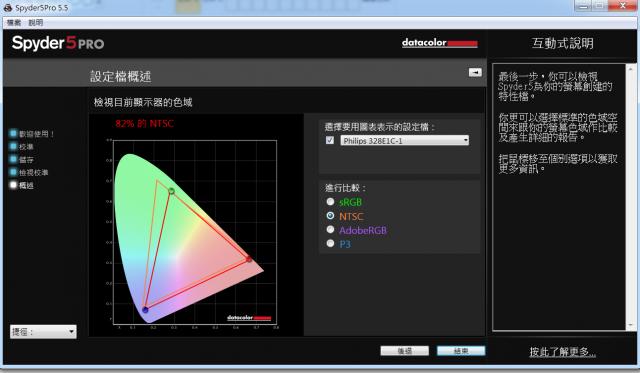 PHILIPS 飛利浦32吋曲面4K高畫質顯示器開箱-SPYDER 5PRO校正後 82% NTSC philips PHILIPS 飛利浦 328E1C 32吋曲面4K高畫質顯示器開箱-Ultra HD 4K、VA、1500R Spyder 5Pro NTSC 640x373