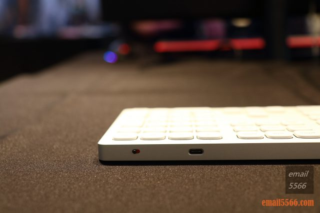 2020 iRocks 新品體驗會-K08BR 無線2.4G&藍芽剪刀腳鍵盤 具有電源開關&充電接口 USB Type C