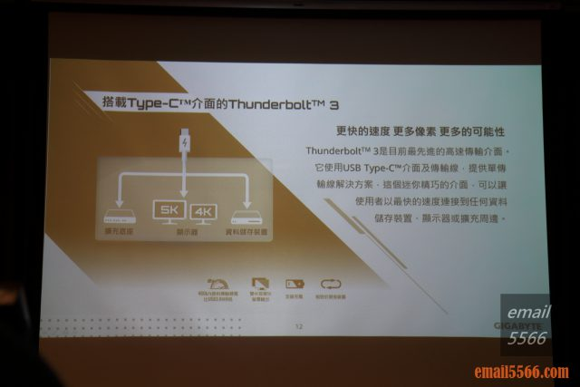 2020 AORUS x AMD 玩家體驗會-搭載Type-C™介面的Thunderbolt™ 3