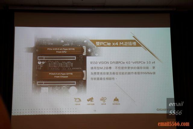 2020 AORUS x AMD 玩家體驗會-雙NVMe PCIe x4 M.2插槽