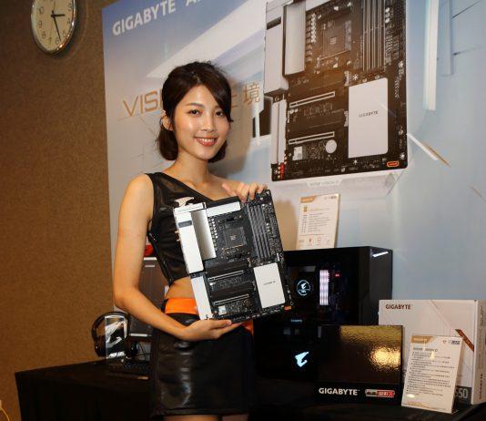 2020 AORUS x AMD 玩家體驗會-B550 VISION D 主機板 實體照