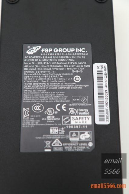 XPG XENIA女武神薩尼亞 電競筆電 1660Ti 開箱-230W變壓器 全漢製造