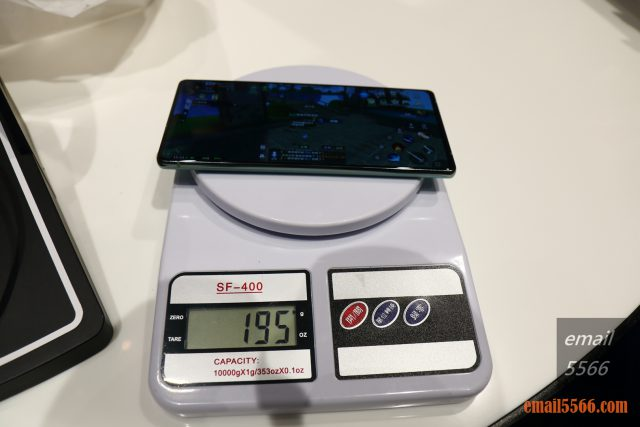 Galaxy Note20 5G 旗艦體驗-NOTE 20 重量