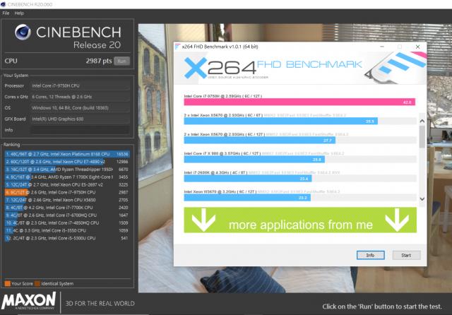 XPG XENIA女武神薩尼亞 電競筆電 1660Ti 開箱-處理器效能測試