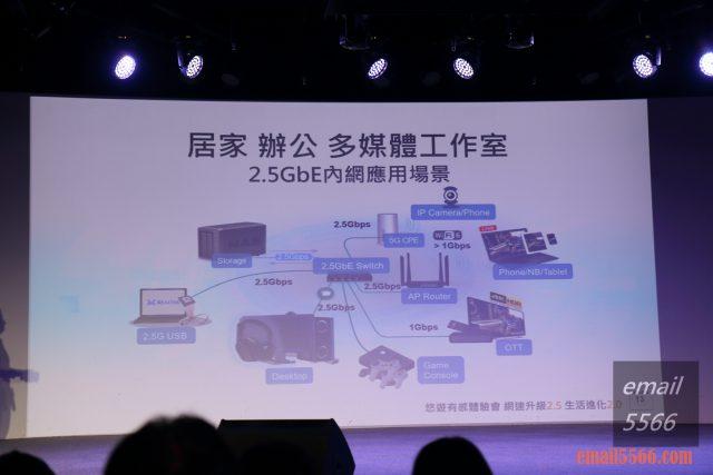 瑞昱Realtek 2.5GbE乙太網路 有感體驗會-居家辦公多模體工作室