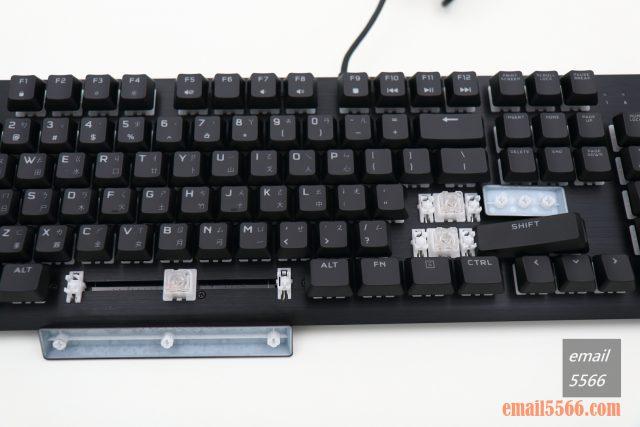 海盜船 CORSAIR K60 RGB PRO機械電競鍵盤 開箱-窄身 RGB CHERRY VIOLA軸-衛星軸