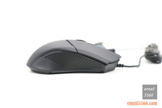 MSI 微星 GM08 電競滑鼠 開箱-龍鱗防滑處理