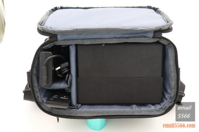 全球最小3LCD 雷射投影機 Epson EF12-天花板前投、無線投影、Android TV、自動對焦/水平垂直梯型修正-收納袋內部配置就是相機包的設計