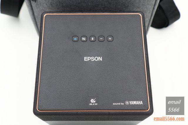 全球最小3LCD 雷射投影機 Epson EF12-天花板前投、無線投影、Android TV、自動對焦/水平垂直梯型修正-投影機本體帶有操作按鍵