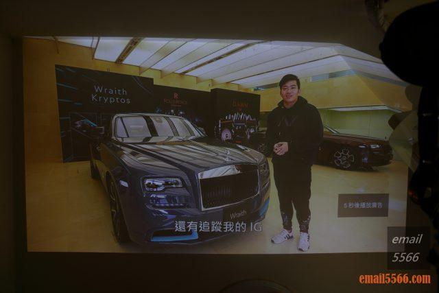 全球最小3LCD 雷射投影機 Epson EF12-天花板前投、無線投影、Android TV、自動對焦/水平垂直梯型修正-Elly 躺在床上看youtube