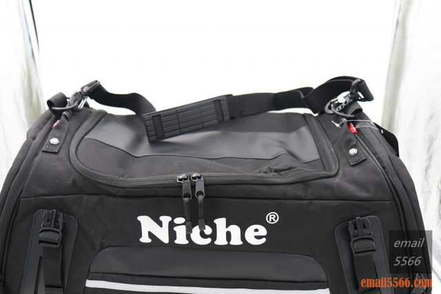 樂奇重機可變形後尾包-重機露營旅行袋-配有一條可調單肩背帶