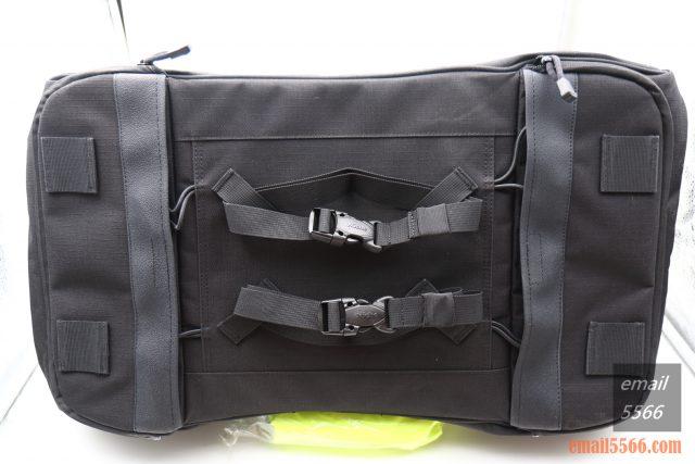 樂奇重機可變形後尾包-重機露營旅行袋-配有可調式4條長的 57公分的快卸扣綁帶,不須鑽孔